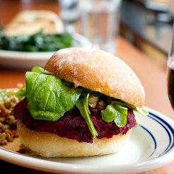 Beet Burger. Photo: Davis Tilly Photography